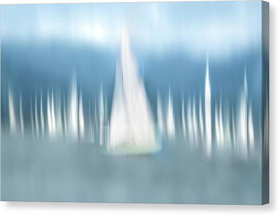 Sail Boats Canvas Print - Sailing by Anette Ohlendorf
