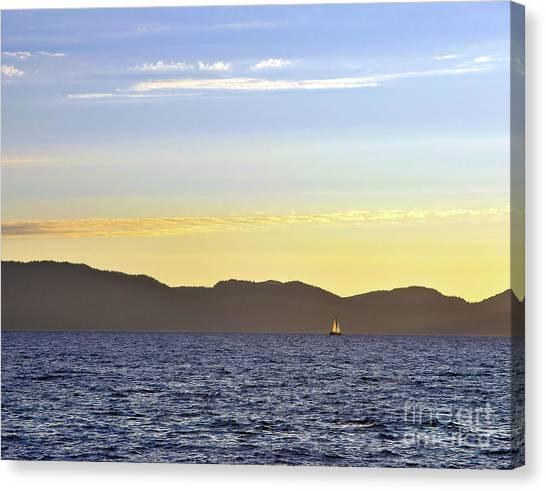 Sailing At Sunset - Lake Tahoe Canvas Print