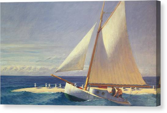 Boat Canvas Print - Sailing Boat by Edward Hopper