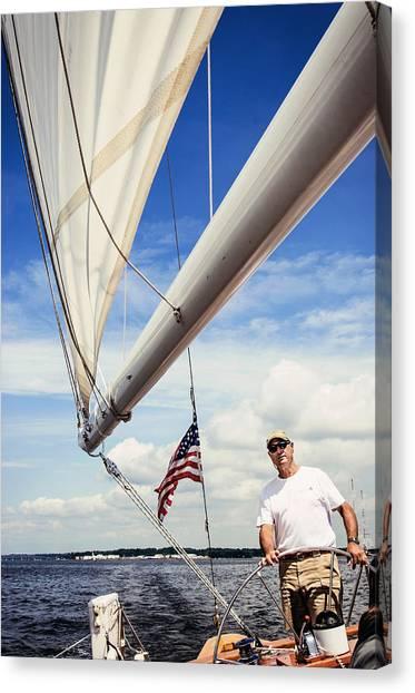 Sailing Captain Pride Canvas Print
