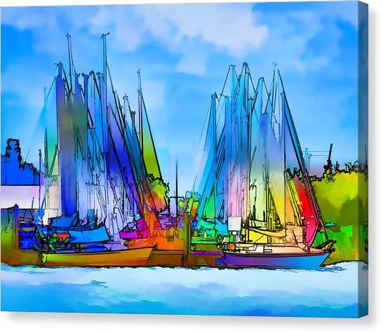 Sailing Club Abstract Canvas Print