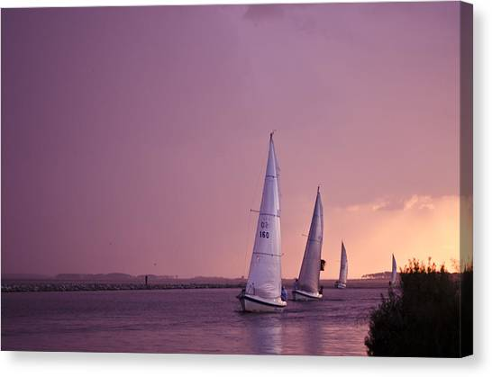 Sailing From The Sun Canvas Print