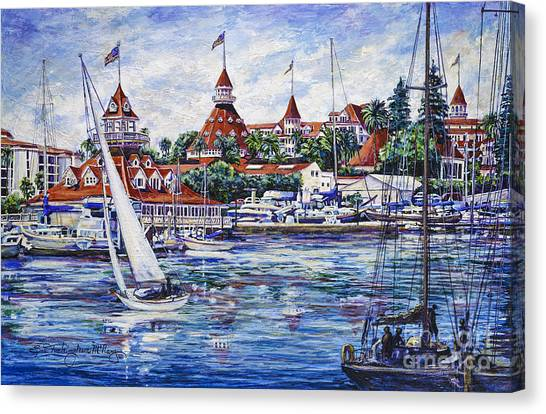 Sailing Glorietta Bay Canvas Print