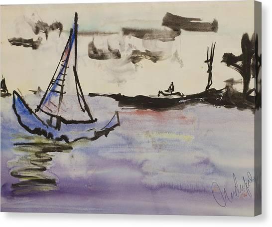 Sailing In Door County 2 Canvas Print