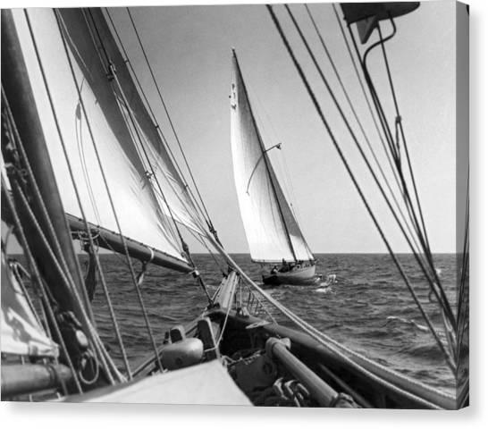 Sailing In Los Angeles Regatta Canvas Print