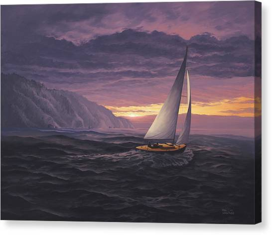 Sailing In Paradise - Big Sur Canvas Print