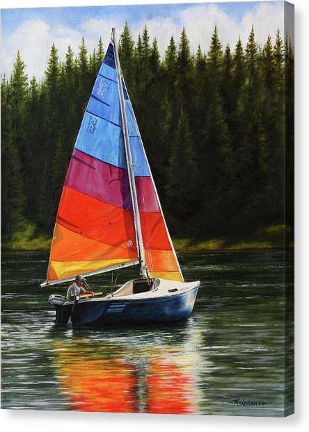 Sailing On Flathead Canvas Print