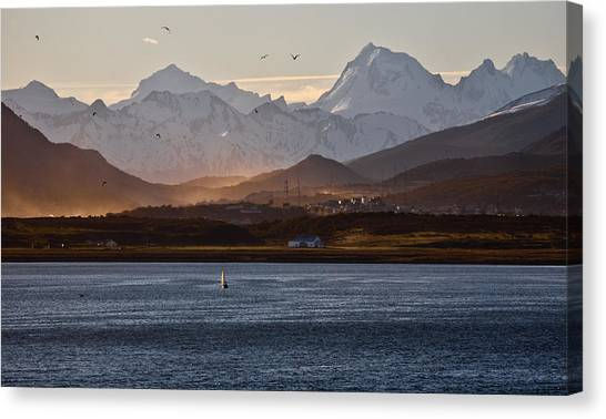 Sailing On The Beagle Channel Canvas Print