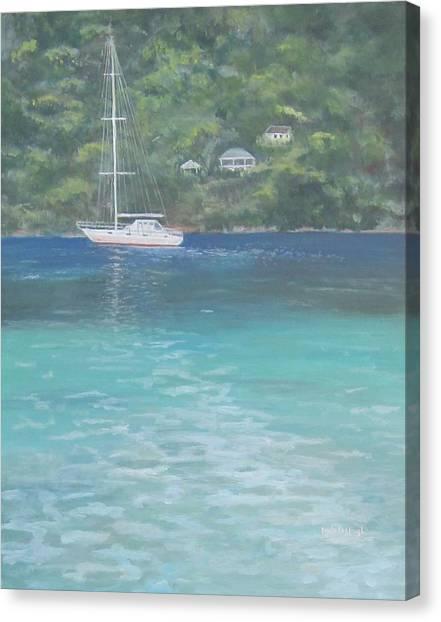 Sailing On The Caribbean Canvas Print