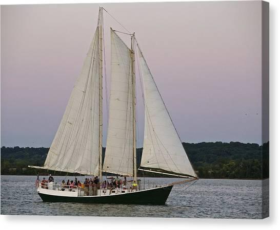 Sailing On The Potomac Canvas Print