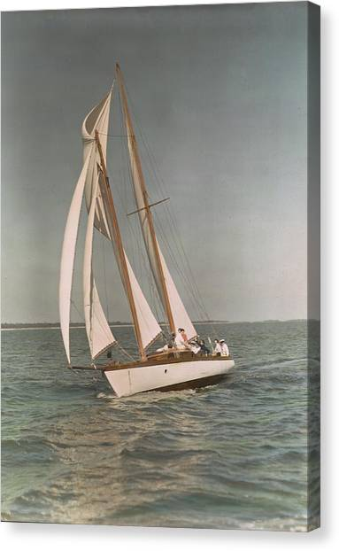 Sailing, One Of The Many Sports Canvas Print by J. Baylor Roberts