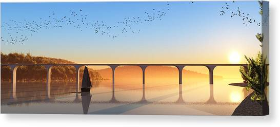 Sailing Out To Sea... Canvas Print