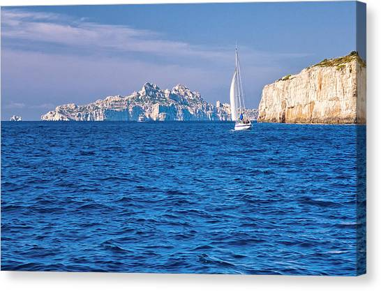 Sailing South Of France Canvas Print