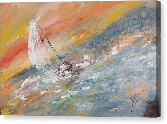 Sailing The Horizon  Canvas Print