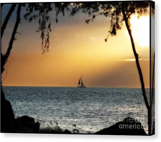 Sailing The Ocean Blue Canvas Print