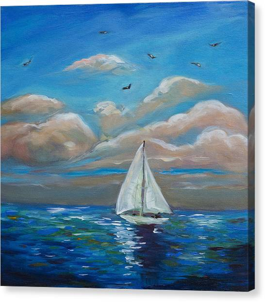 Sailing With My Dad Canvas Print