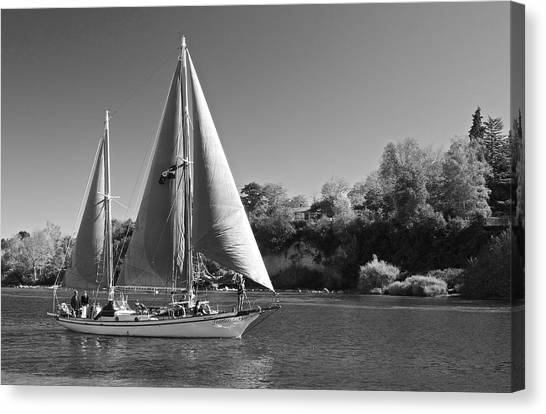 The Fearless On Lake Taupo Canvas Print