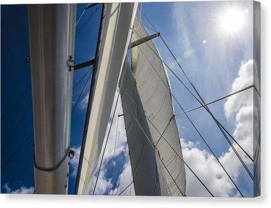 Sailing's Perfect Breeze  Canvas Print