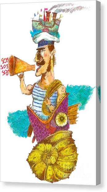 Rope Canvas Print - Sailor Man In Distress. Fantastic by Alex74