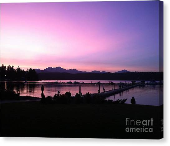 Western Conference Canvas Print - Sailor's Delight At Alderbrook by Terri Thompson