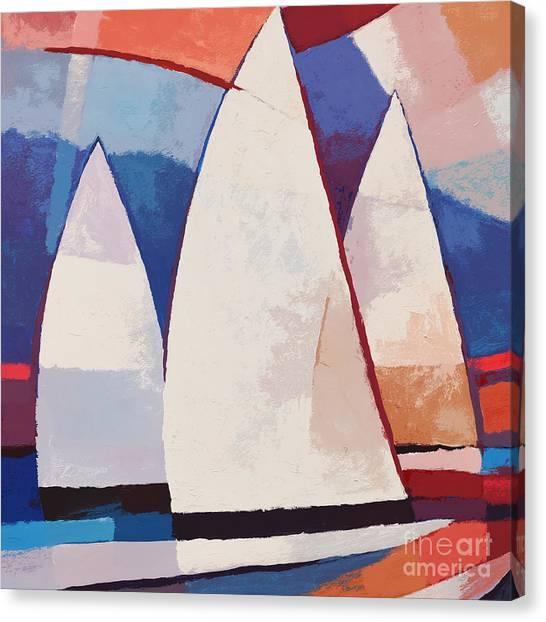 Sailing Canvas Print - Sails Ahead Graphic by Lutz Baar