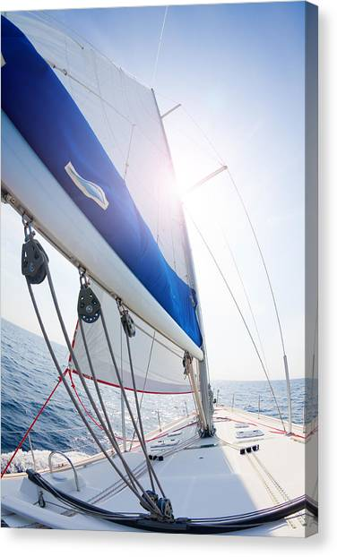 Jibbing Canvas Print - Sails Up by Alexey Stiop