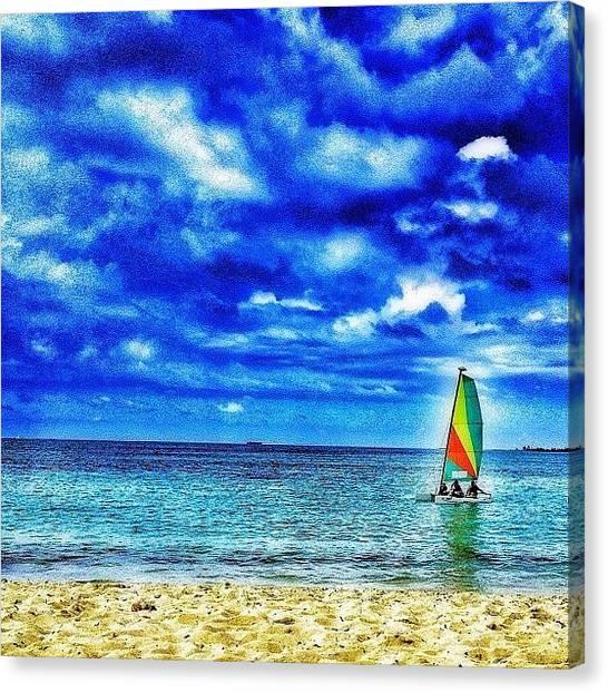 Bahamas Canvas Print - #sail#sailboat#sailing#bahamas#2013 by Ann Jungblut
