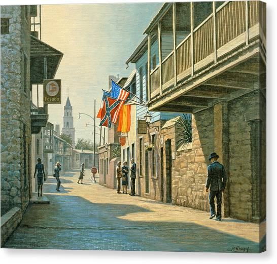 Saints Canvas Print - Saint Augustine Street   by Paul Krapf
