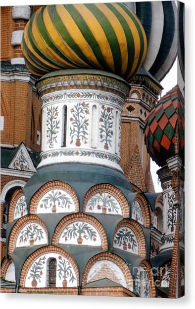 Moscow Canvas Print - Saint Basil's Cathedral In Moscow 1956 by The Harrington Collection
