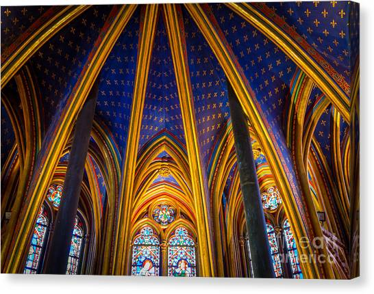 Europa Canvas Print - Saint Chapelle Ceiling by Inge Johnsson
