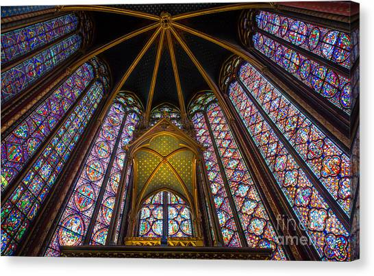 Europa Canvas Print - Saint Chapelle Windows by Inge Johnsson