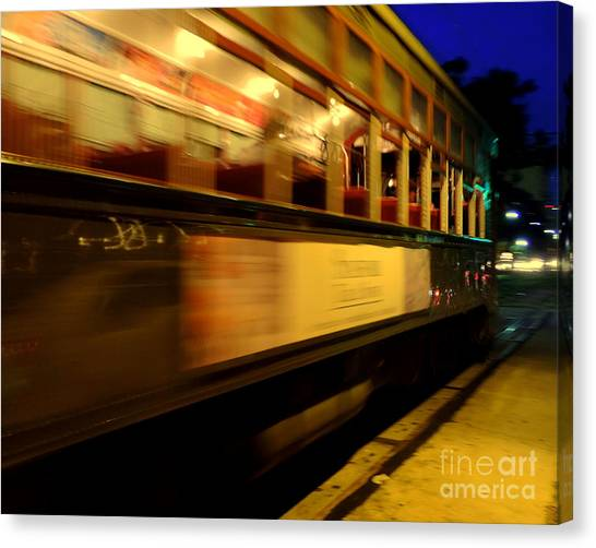 New Orleans Saint Charles Avenue Street Car In  Louisiana #7 Canvas Print