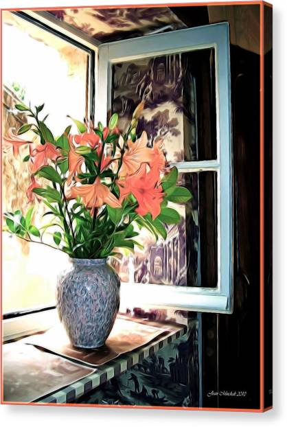 Saint Emilion Window Canvas Print