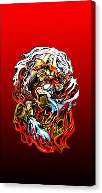 Saint Florian Canvas Print