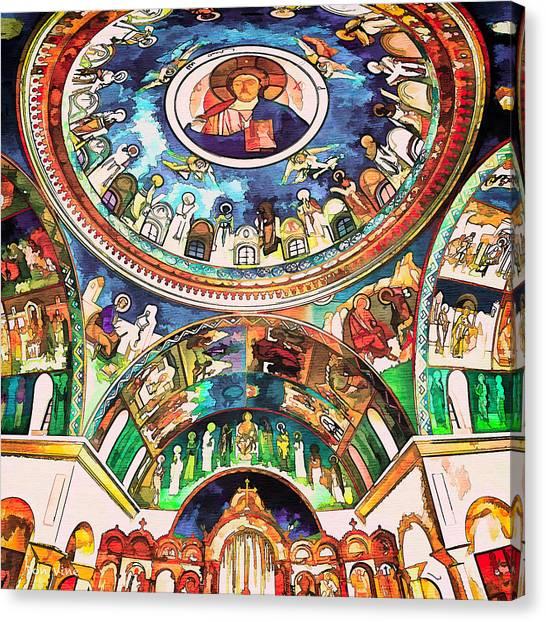 Saint George Above Canvas Print
