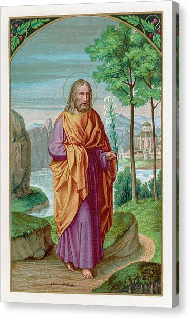 Saint Joseph Husband Of Mary, And Canvas Print by Mary Evans Picture Library