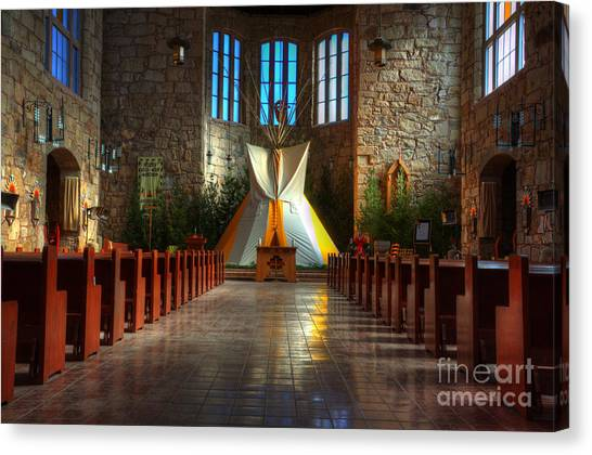 Saint Josephs Apache Mission Canvas Print