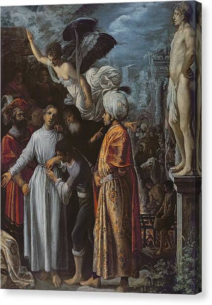 Gridiron Canvas Print - Saint Lawrence Prepared For Martyrdom, C. 1600-1 Oil On Copper by Adam Elsheimer