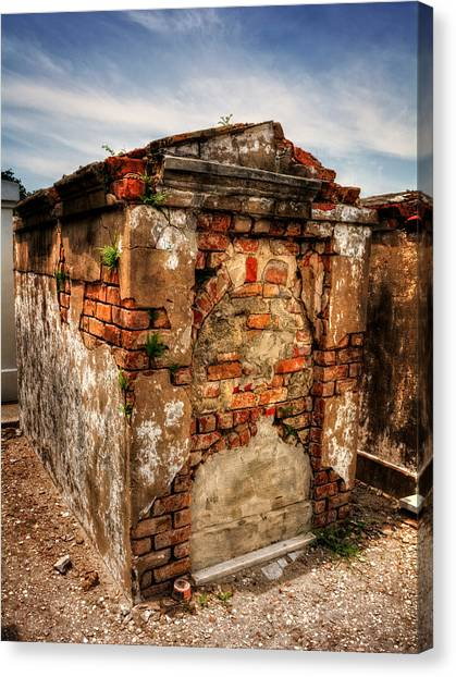 Saint Louis Cemetery No. 1 Brick Grave Canvas Print