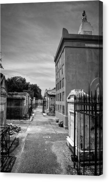 Saint Louis Cemetery Number 1 In Black And White Canvas Print