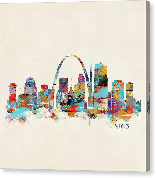 Catholic Canvas Print - Saint Louis Missouri Skyline by Bri Buckley