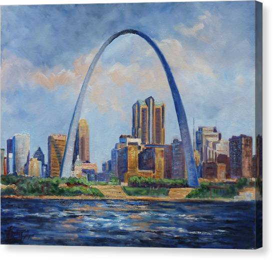 Saint Louis Skyline 2 Canvas Print