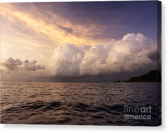Saint Lucian Sunset Canvas Print