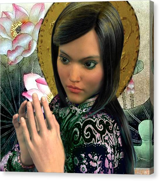 Saint Magdalene Of Nagasaki Canvas Print