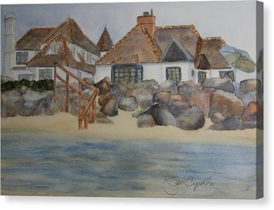 Saint Malo Beach House Canvas Print