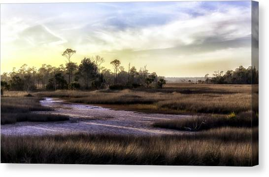 Saint Marks Wetland Sunset Canvas Print