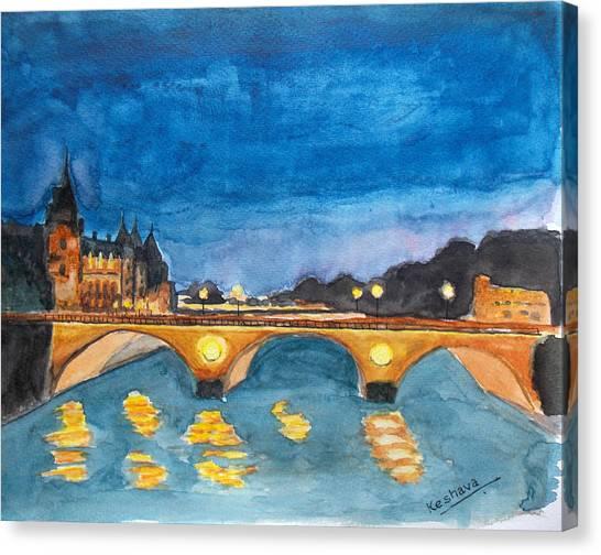 Saint-michael Bvd. Paris Canvas Print
