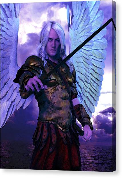 Saint Michael The Archangel/2 Canvas Print