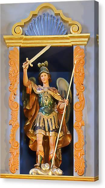 Archangel Canvas Print - Saint Michael The Archangel by Christine Till