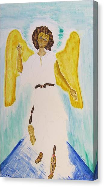 Saint Michael The Archangel Miracle Painting Canvas Print by Debbie Nester